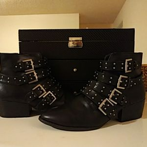Trendy Moto Boots with Buckles